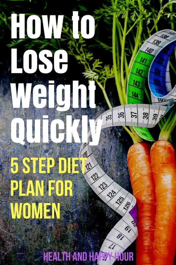 Here is a strange but true truth about how to lose weight quickly: Losing weight is simple, but it's not always easy. Thankfully, this 5-step diet plan for weight loss for women will help! | Health and Happy Hour
