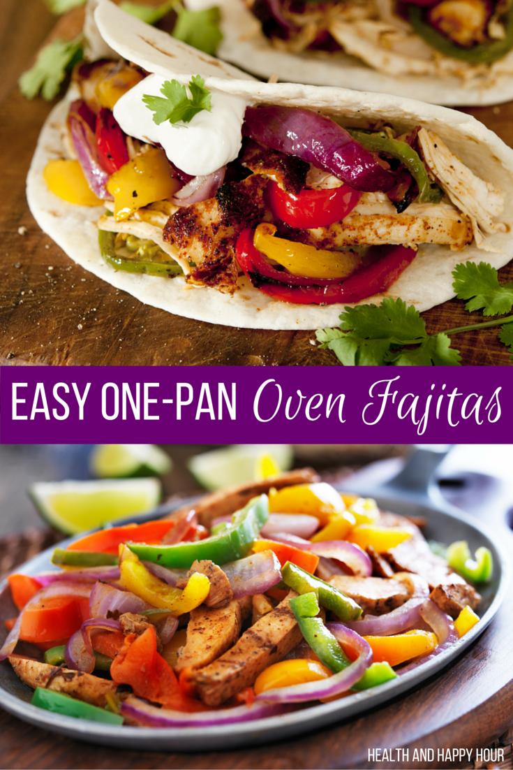 Easy One-Pan Oven Fajitas | Health and Happy Hour
