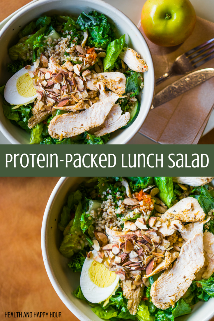 Protein-Packed Lunch Salad | Health and Happy Hour
