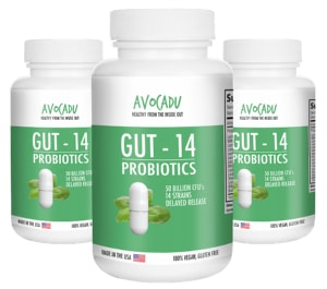 Avocadu Gut-14 Probiotics Supplement
