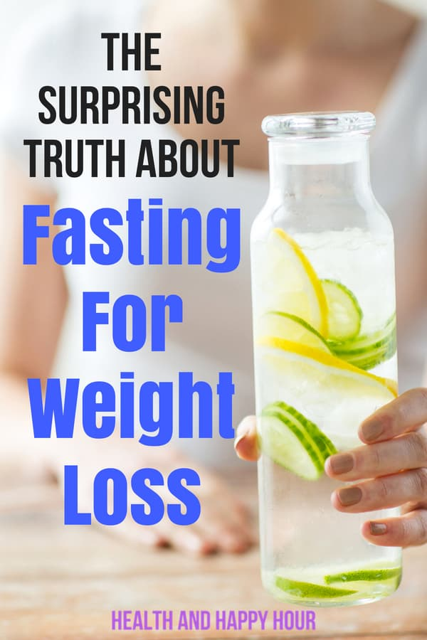 Fasting for weight loss is a sensitive topic for many people because they immediately think of starving themselves. The truth is that you can lose weight through fasting and it's 100% safe and healthy! | Health and Happy Hour